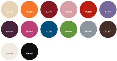 Notre gamme de coloris en stock
